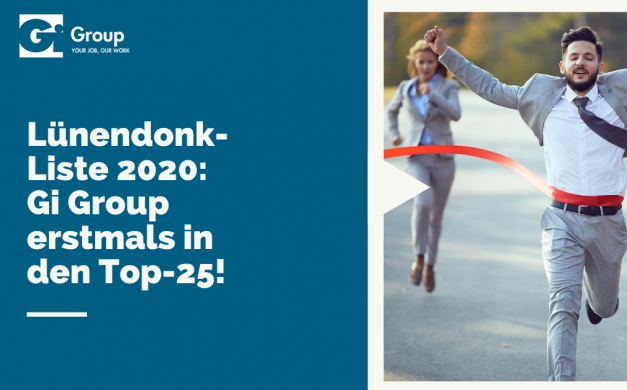 Lünendonk-Liste 2020: Gi Group erstmals in den Top-25!
