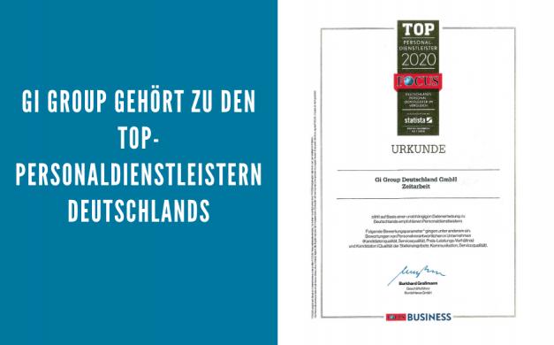 Gi Group gehört zu den Top-Personaldienstleistern Deutschlands